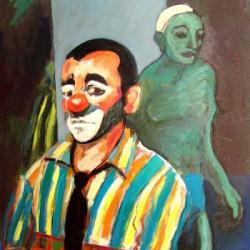 Pintura de Jorge Sarraute de su hijo Pau Sarraute (Payaso)