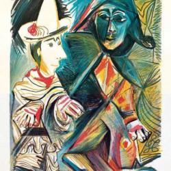 El Clown y el Arlequin de Pablo Picasso.