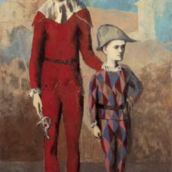 Acrobata y joven Arlequin de Pablo Picasso.
