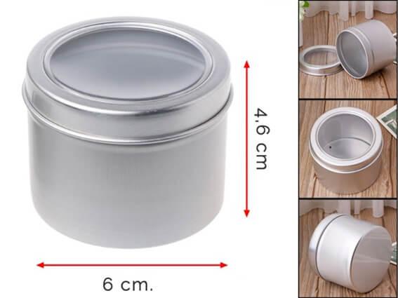 Caja de aluminio para guardar nariz de payaso.