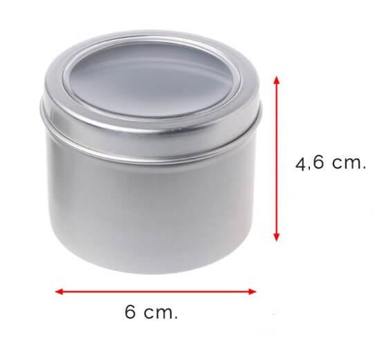 Medidas caja aluminio para guardar nariz de payaso